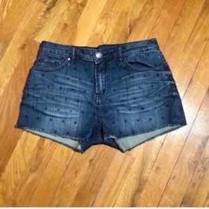 Buffalo David Bitton Star Printed Denim Shorts